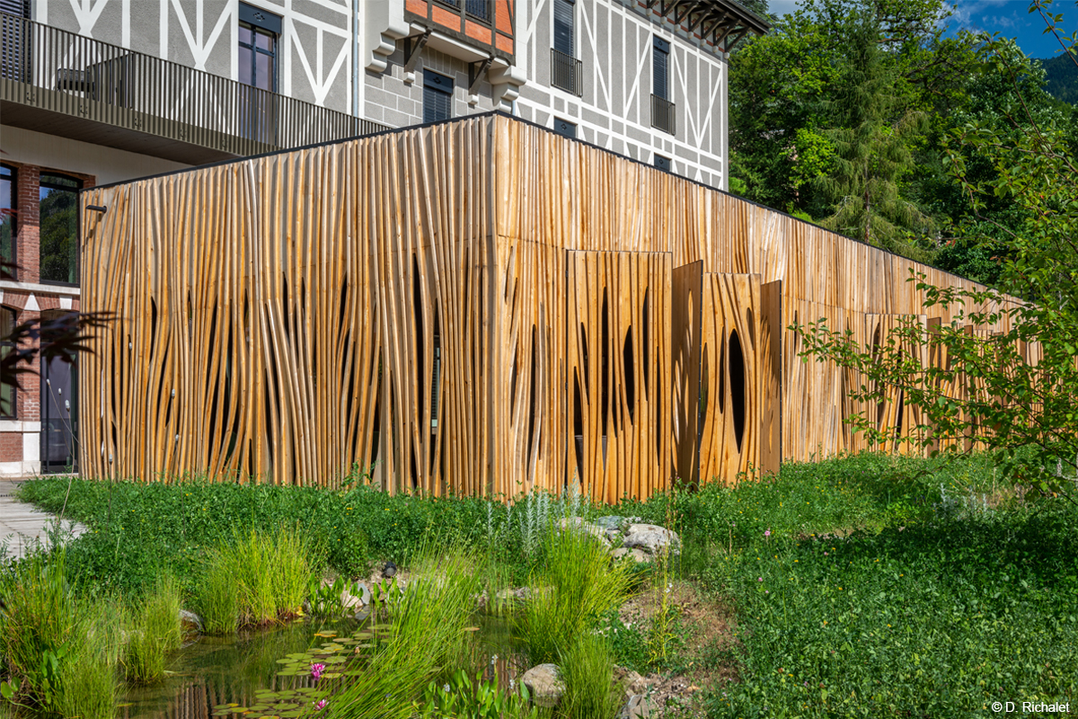 charpente bois lamellé construction bois restaurant