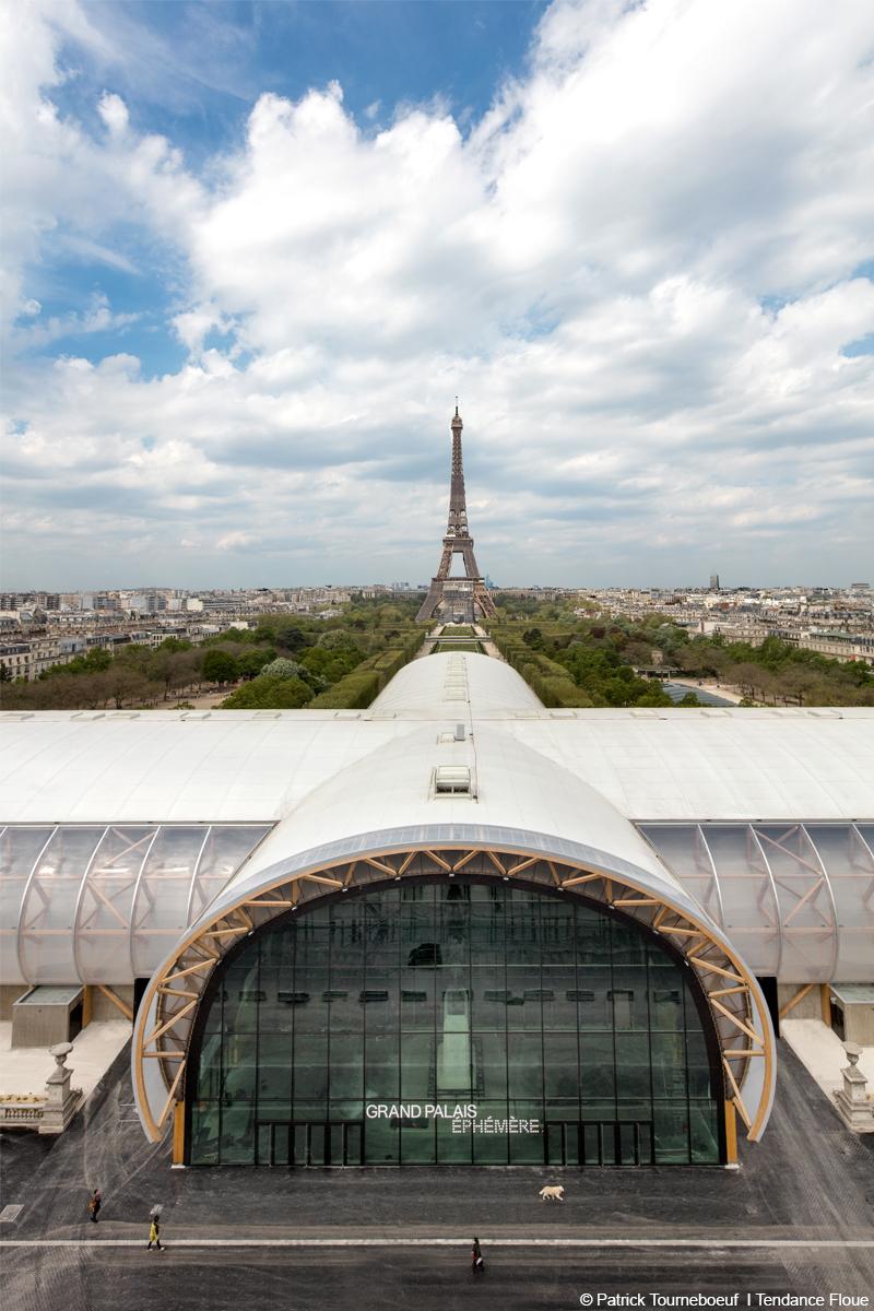 grand palais éphémère structure culturelle en bois lamellé démontable