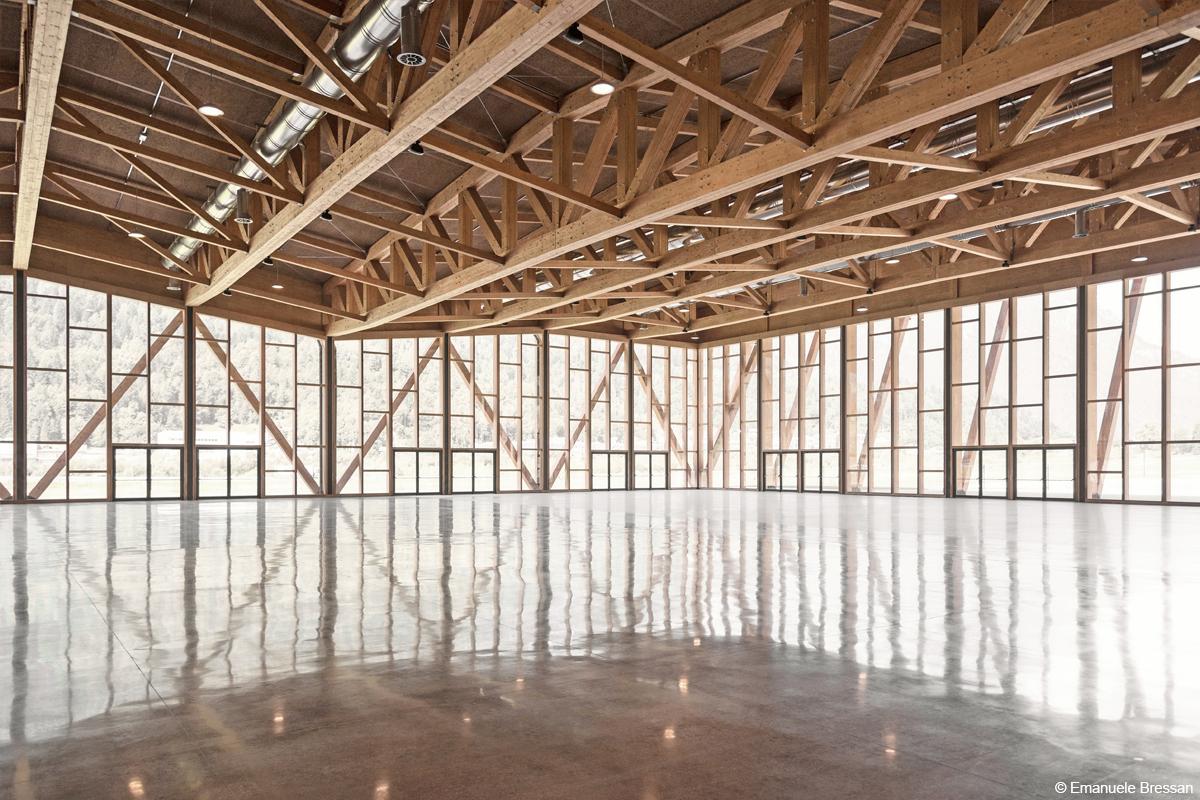 bois lamellé centre de congrès en structure bois équipement public en bois