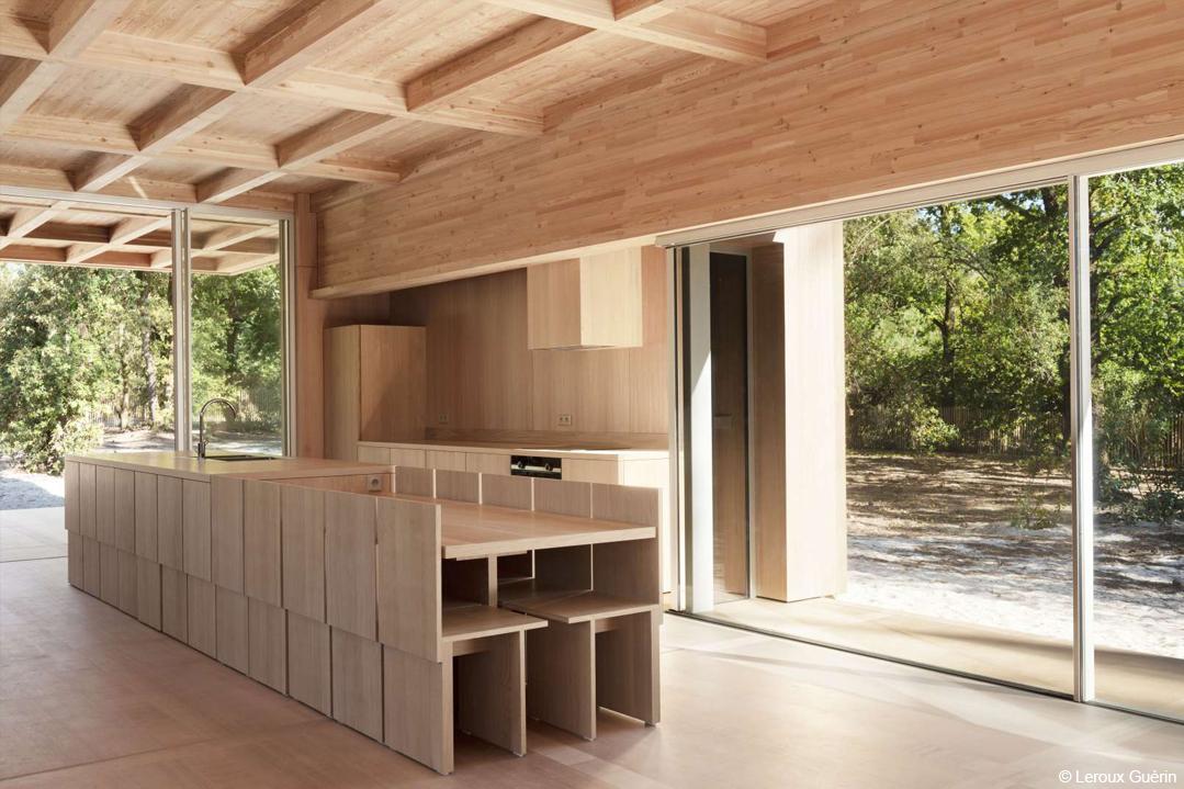 bois lamellé maison contemporaine en bois