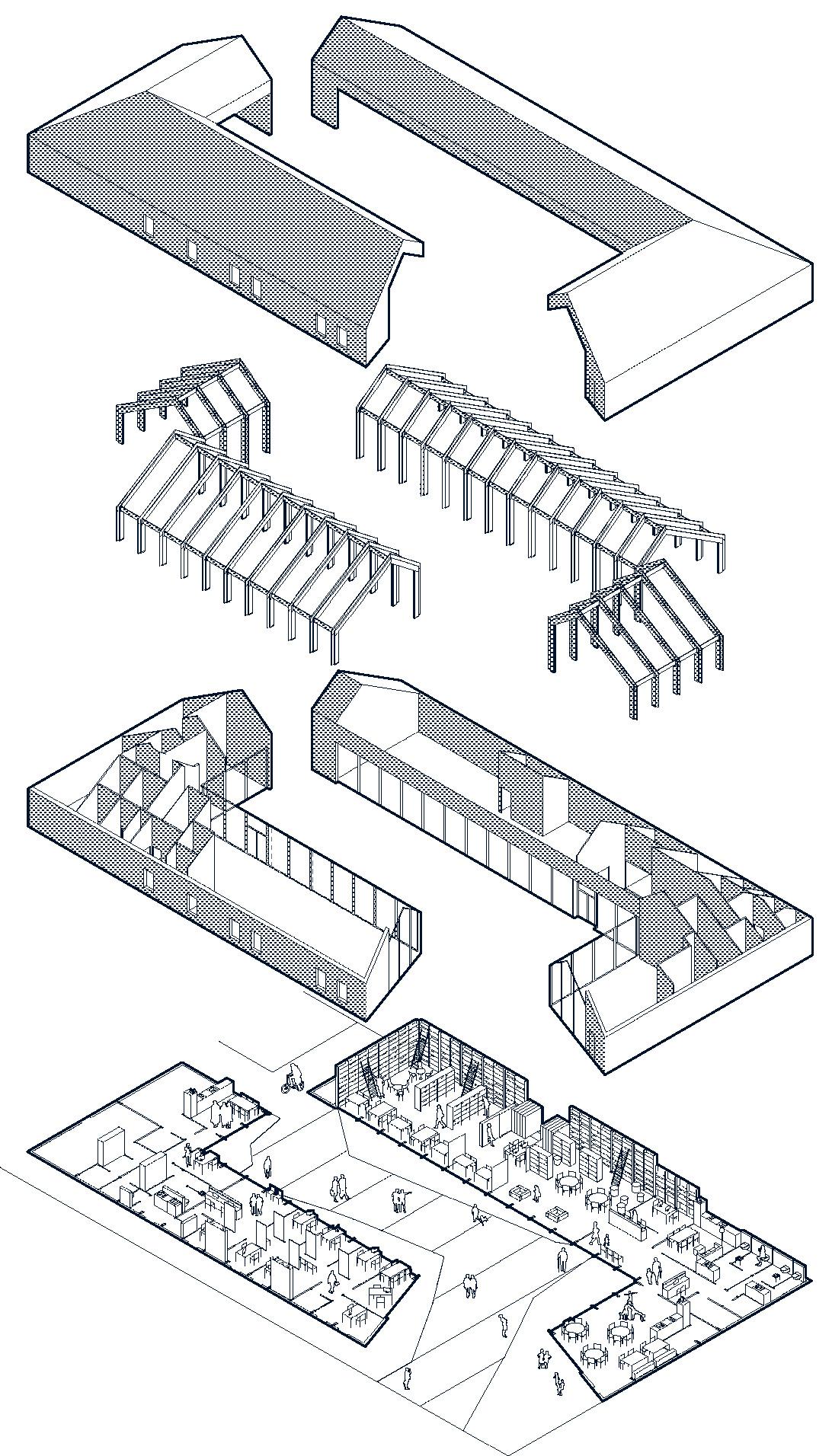 détail 3 structure pole social cabourg © lemoal lemoal