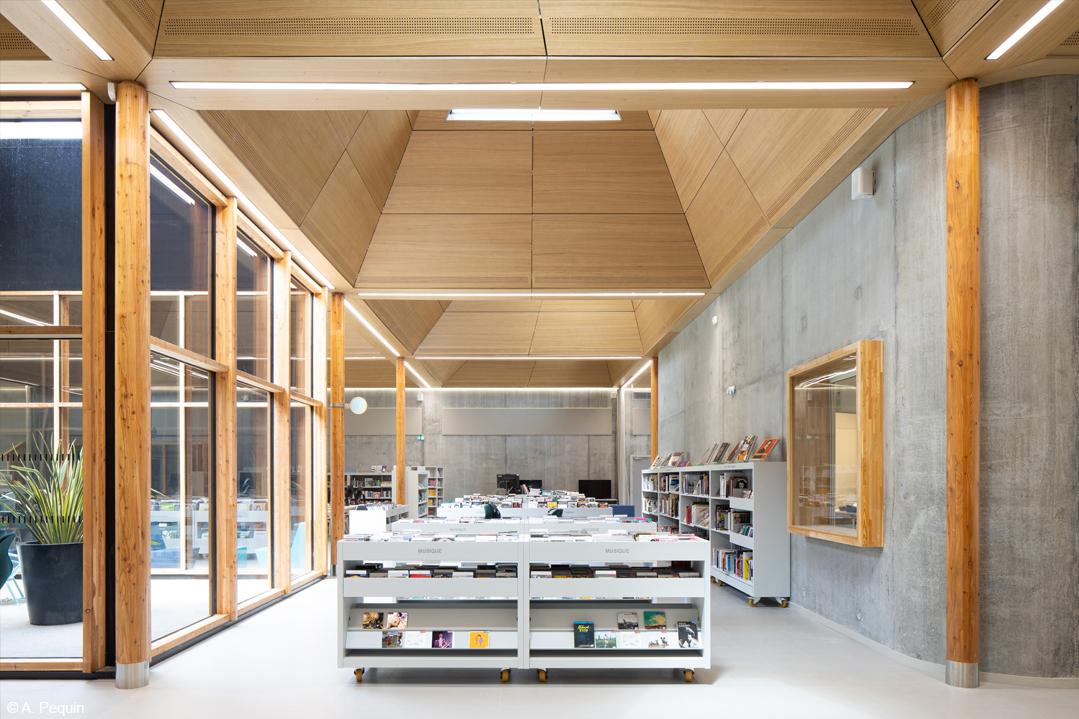 bois lamellé structure bois bibliothèque