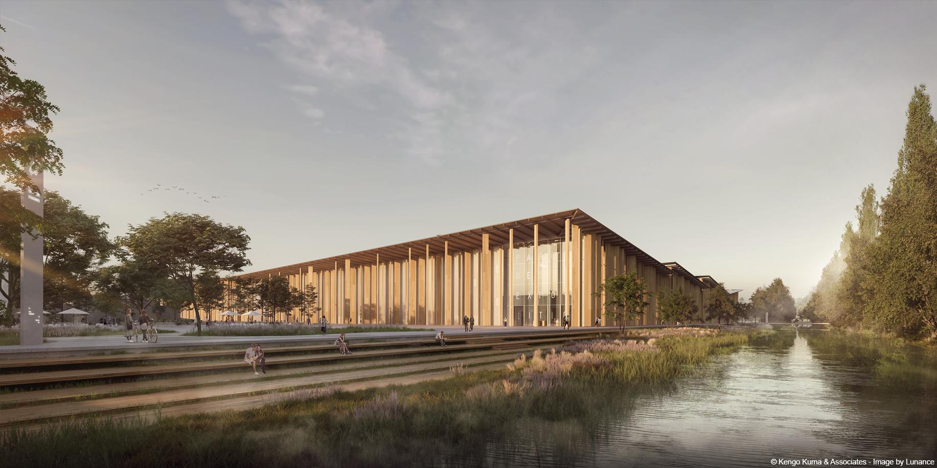 construction bois parc des expositions en bois lamellé