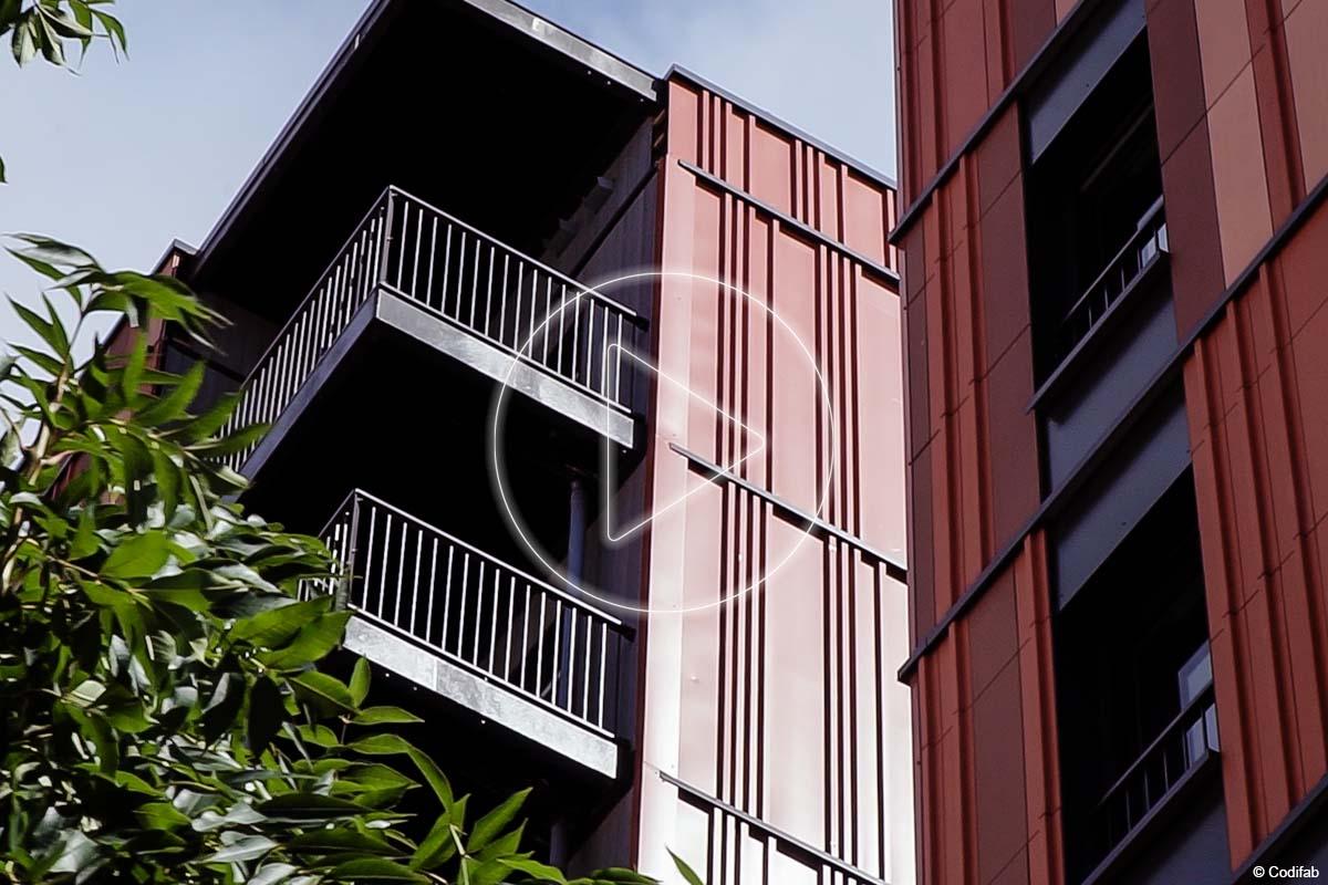 immeubles de logement R+10 et hôtel en bois lamellé métal et CLT