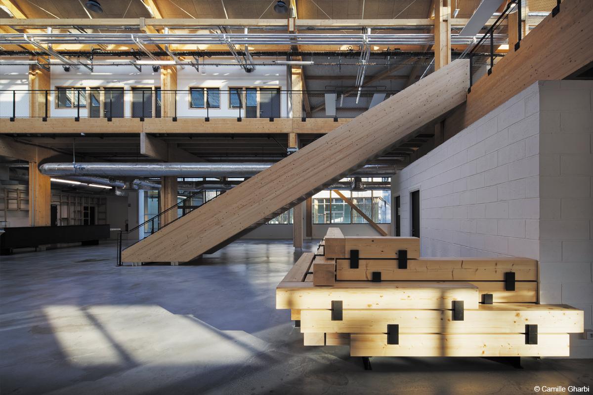 campus industreet urban valley construction bois bois lamellé structure bois