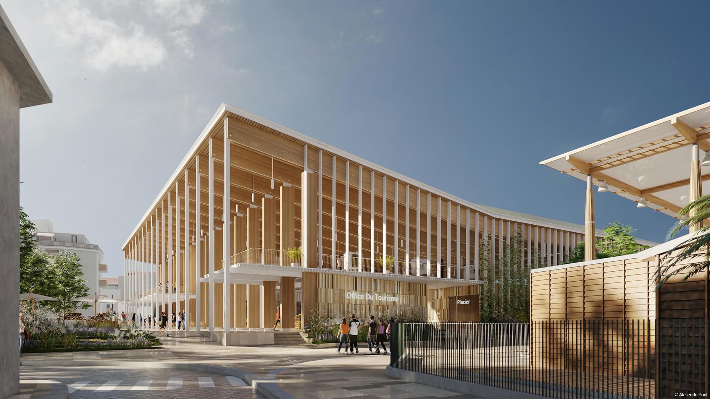 construction bois halle publique bois lamellé