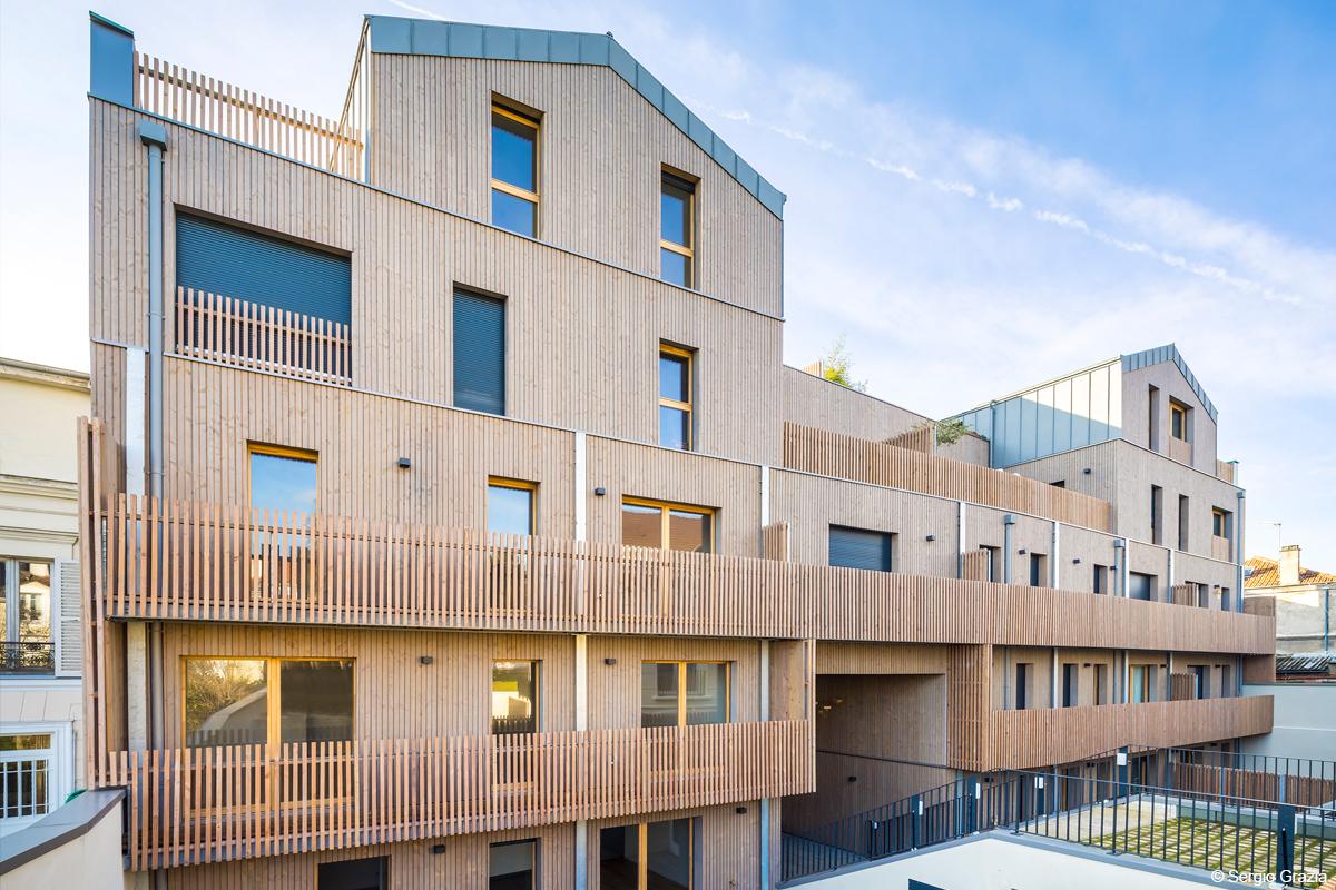 logements structure bois bois lamellé architecture bois