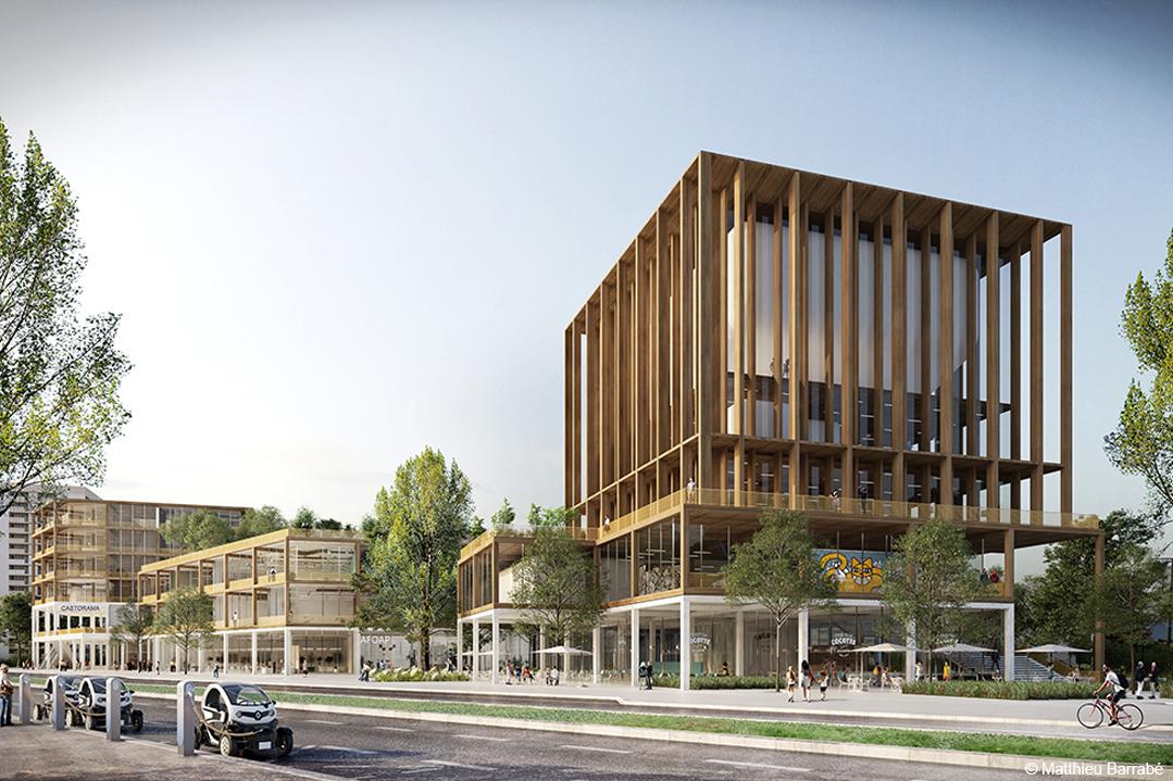 Projet en structure bois innovant bois lamellé