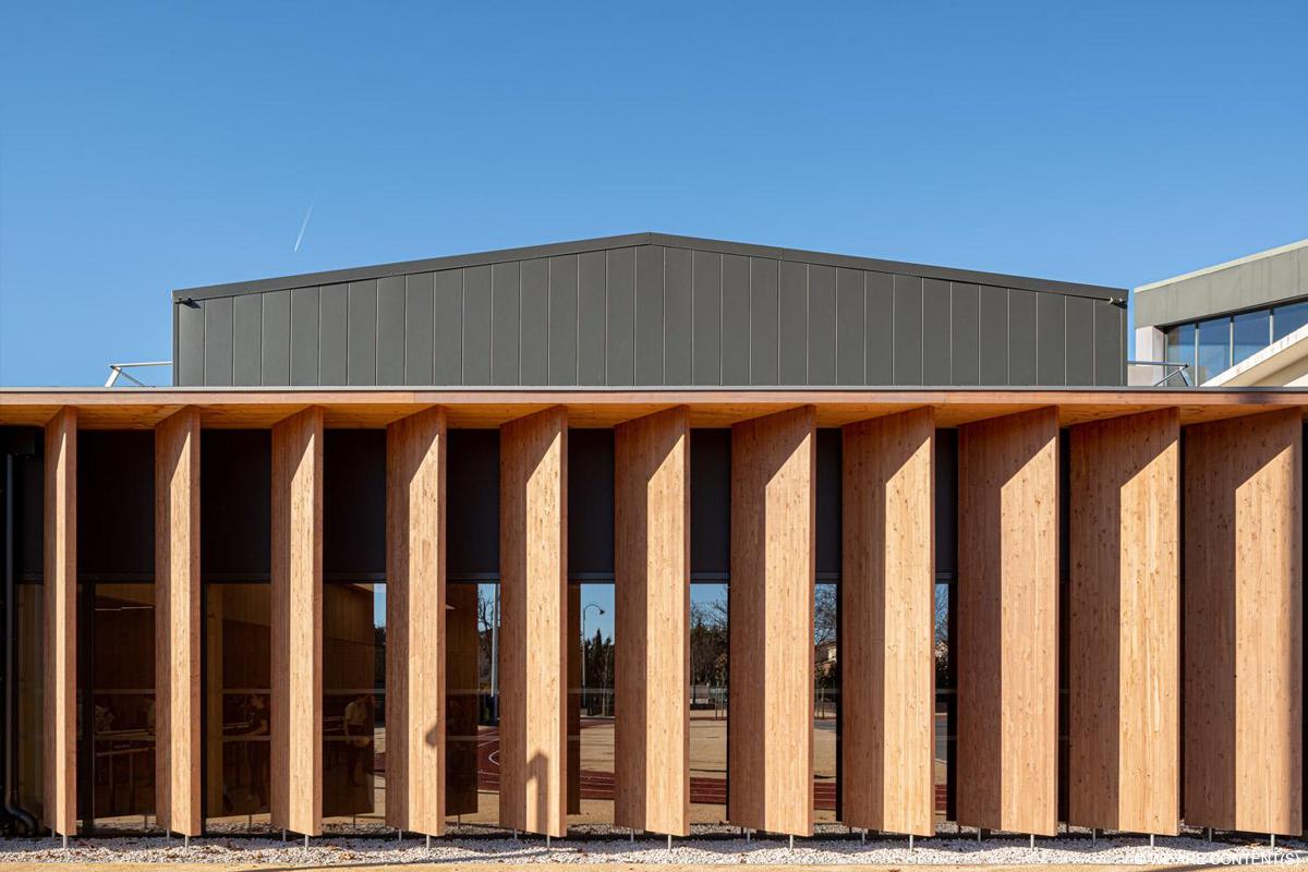 lycée en bois bâtiment d'enseignement en bois lamellé construction bois