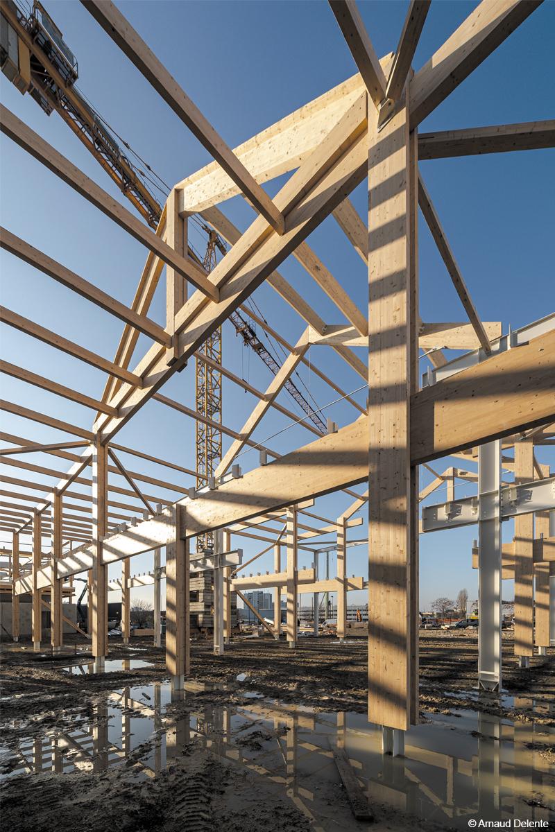 campus industreet urban valley construction bois bois lamellé structure bois charpente en bois lamellé