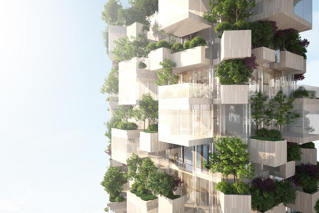 bois lamellé quartier de grande hauteur balcon sur paris