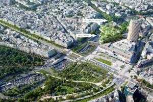 Aménagements Porte Maillot © consultation publique