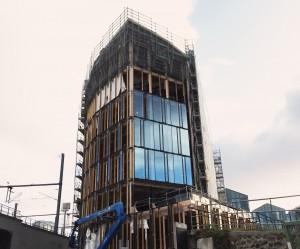 bois lamellé architecture immeuble de bureau pont de flandre atelier anne carcelen