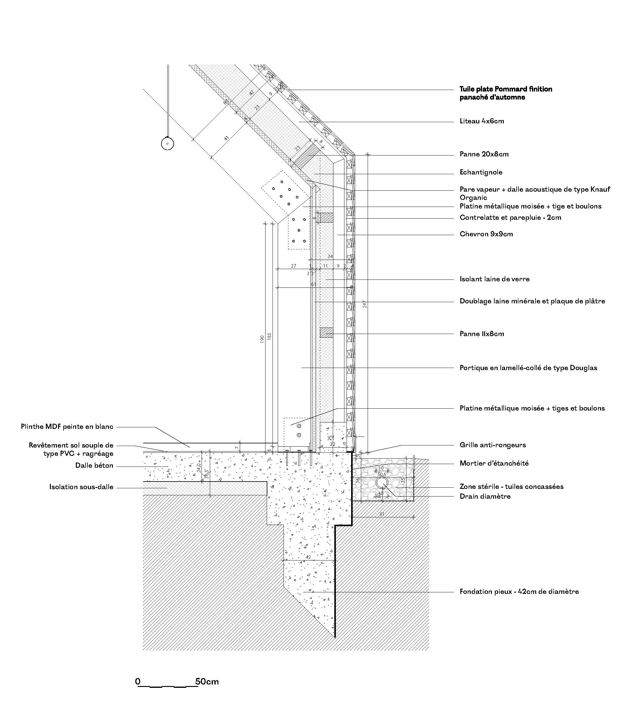 détail 2 structure pole socio culturel cabourg © lemoal lemoal