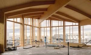 charpente bois lamellé architecture immeuble pont de flandre anne carcelen