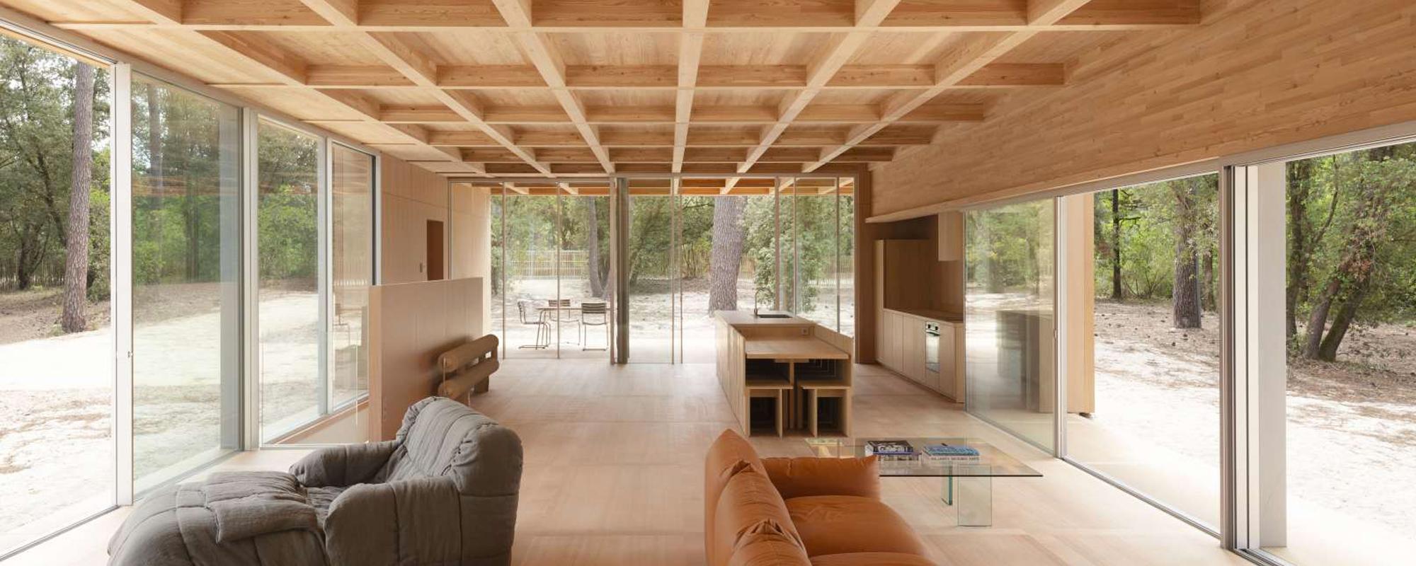 Maison en bois lamellé