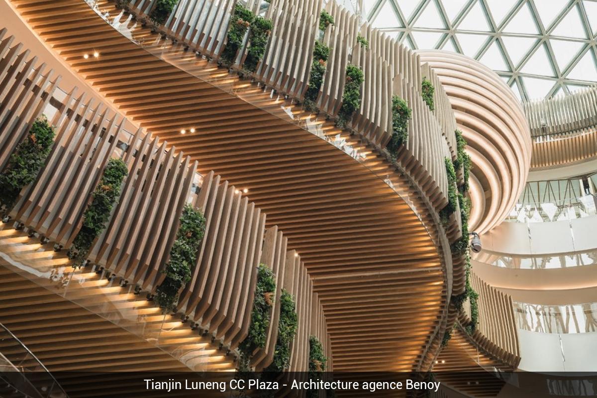bois lamellé prix versailles Tianjin Luneng CC Plaza Architecture agence Benoy