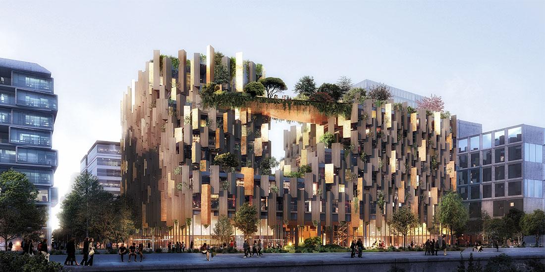 bois lamellé structure bois hôtel paris