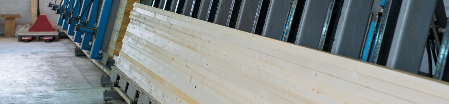 Woodworking. Image of bonding wooden lamellas in shield